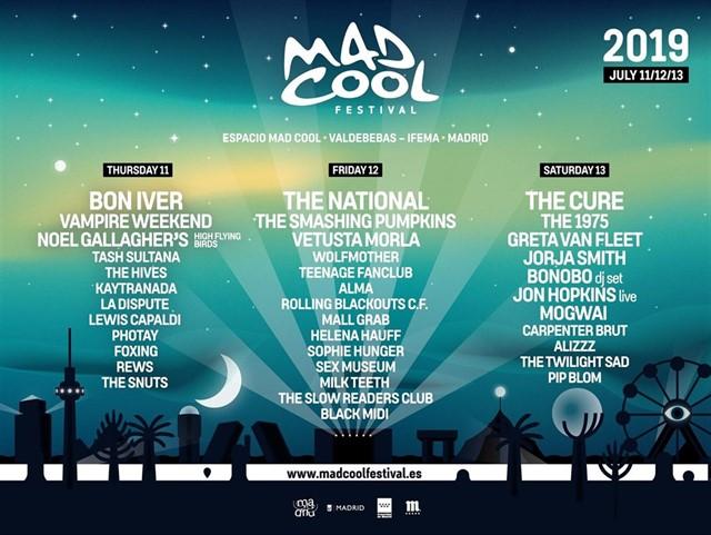 """Mad Cool Festival 2019 donará el porcentaje dedicado al """"charity"""" (RSC) de las invitaciones del Festival a la Fundación The Ocean Cleanup."""