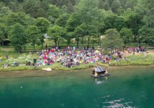 Espectáculo flotante Le Piano du Lac