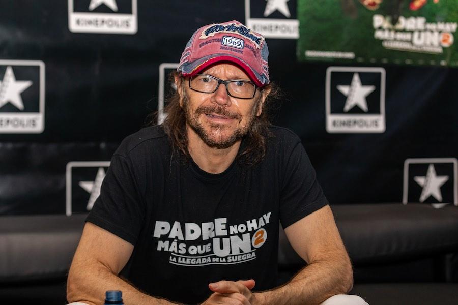 Santiago Segura en la presentación de su estreno en Paterna