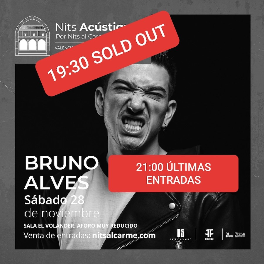 Bruno Alves en un concierto íntimo y exclusivo