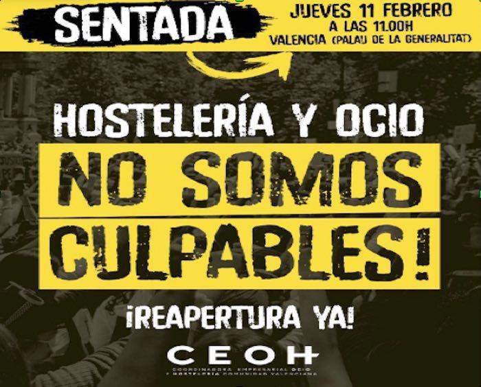 cartel hostelería protesta